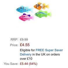 Robo Fish - Assorted designs £4.55 at amazon (free delivery over £10 or free with prime)