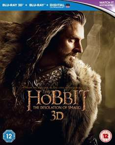 The Hobbit: Desolation of Smaug [3D + Blu-ray + UV Copy] £13.41 USED @ Amazon Marketplace (via Revival Books Ltd)
