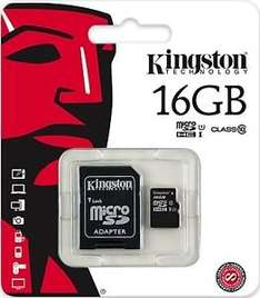 Kingston 16GB Micro Class 10 SDHC Memory Card With Adaptor for £4.75 @ eBay (gizzmo heaven)