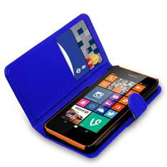 Amazon Nokia Lumia 635 - PU Leather Wallet Flip Case Cover Pouch + Touch Stylus Pen + Screen Protector & Polishing Cloth ( Blue ) 99p  sold by GB Online Sales.