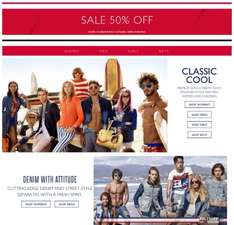 Up to 50% OFF  EVERYTHING in the SALE Of The Season @ Tommy Hilfiger