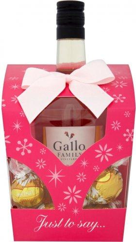 Gallo Family Vineyards Mini Chocolate Box Gift Wine & Chocolate Truffles (187ml) ONLY £4.00 @ Tesco
