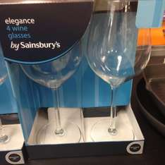 Large wine glasses 4 for £2.40 Sainsburys In store (printed on shelf so think it's national)