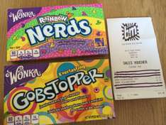 Retro Sweets Wonka Gobstoppers & Rainbow Nerds £1.00 at B&M
