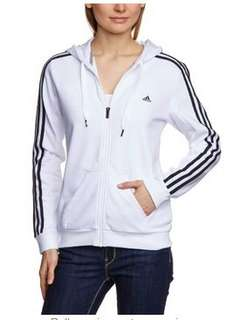 Adidas Women's Essentials 3 Stripes Track Top (White/Black in Size L) - £13.62 Delivered (Possibly £10.89 With Code) @ Amazon