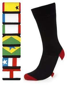 Marks & Spencer - 7 Pairs of Freshfeet™ Cotton Rich Flag Design Socks with Silver Technology £3.99 collect from store m&s