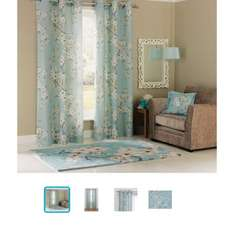 Inspire Blossom Duck Egg Curtains priced from £6.79 @ Argos