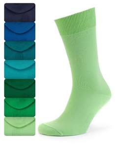 M&S COLLECTION 7 Pairs of Freshfeet™ Cotton Rich Plain Socks with Silver Technology from £3.99