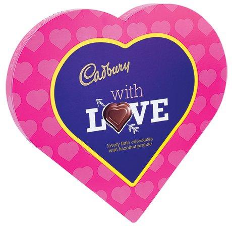 Cadburys With Love Chocolates with Hazlenut Praline (180g) ONLY £1.50 @ Heron Foods