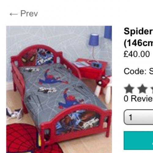 Spider man toddler bed £40 @ Matalan
