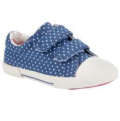 John Lewis baby girls blue spot canvas trainers £7.50
