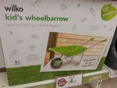 Kids wheelbarrow was £18 now £4.50 @ Wilko In Store