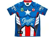 Sydney Roosters Kids 2014 NRL Captain America Marvel Ltd Edition S/S Replica Rugby Shirt  £49.99 @ Lovell Rugby