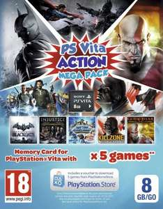 PlayStation Vita Action Mega Pack (5 Games + 8GB Memory Card) £24.85 @ Amazon & ShopTo (£24.60 @ GameTradeOnline - Fulfilled by Amazon - 5 Left In Stock)