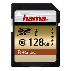 128GB SD Card Hama 45MB/s - Branded card & sold by Amazon only £37.58 delivered