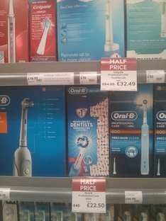 oral-b pro care 1000 half price 22.50 @ Waitrose online and instore