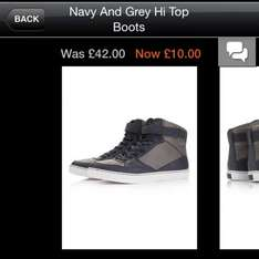 Topman Hi-tops only £8 using 20% off coupon, possible 5% cashback too
