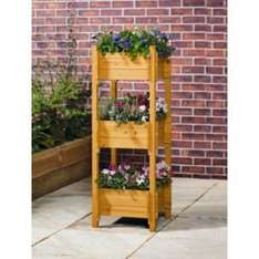 Delicious, sturdy, 3 tier planter. WAS £39.99 NOW JUST £14.99! @ Argos. Measurements of each 45cm and FSC certified wood,