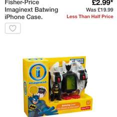 Fisher price imaginext batman phone case toy set. Less than half price @ Argos. Was £19.99 reduced to £2.99