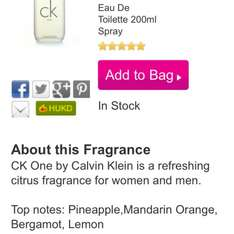 CK One 200ml - £27 @ The Fragrance Shop