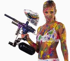 Full-Day Paintballing for One Person £2 @ Amazon Local