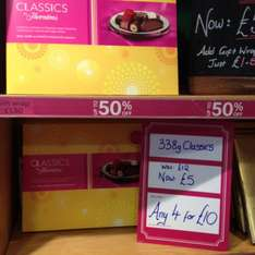 Thorntons Classic 338g limited edition box £5 each or 4 for £10 found in Thornton's shop Blackpool