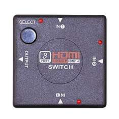 HDMI Switch 3 port 3D support, HDMI v1.4 for HDTV £2.95 @ Amazon/Betron