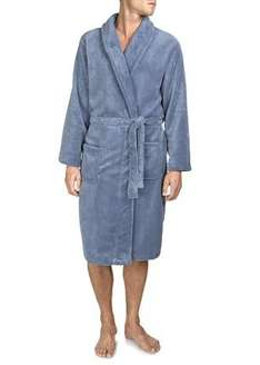 Super Soft Dressing Gown for Men blue & grey £4 C&C at Matalan