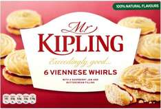 Mr Kipling Viennese Whirls half price at 80p at The Co-op (or 72p if you have a NUS card!....)