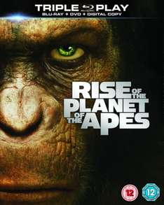 Rise of the Planet of the Apes - Triple Play (Blu-ray, DVD & Digital Copy) New Delivered @ Play.com (Sold by FoxDirect)