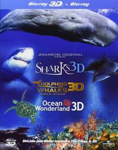 Jean-Michel Cousteau's Film Trilogy (Dolphins & Whales/Sharks/Ocean Wonderland Blu-ray 3D + Blu-ray) @ Amazon for £5.40