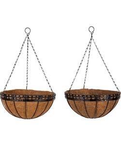 Garden 12 Inch Decorative Wire Hanging Basket - 2 Pack £4.99 argos