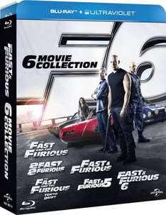 Fast and Furious 1-6 Blu Ray + UV box set only £17.50 @Amazon