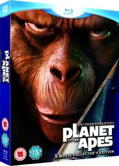 Planet of the Apes: 40-Year Evolution (5 Movie Collector's Edition Blu-ray Boxset) £12.49 delivered @ Wow HD