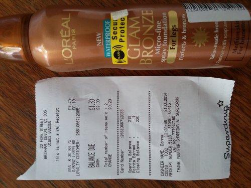 L'Oréal Glam Bronze For Legs 10p at Superdrug