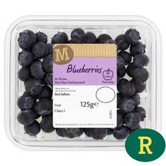 125g punnet of large blueberries half price just 49p at Morrisons