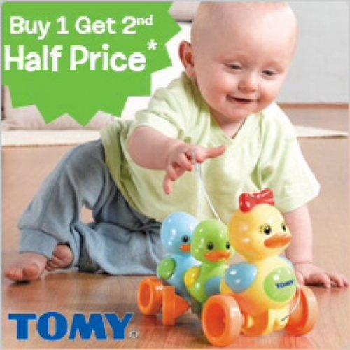 Tomy toys half price then buy 1 get 1 half price @toys r us