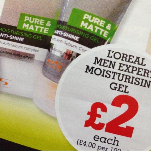 L'oreal Men Expert pure matte moisturising anti-shine gel 50ml for £2 @ morrisons (preston deepdale)