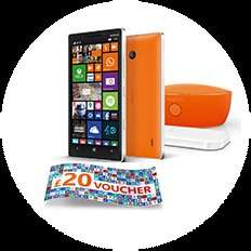 Buy the Nokia Lumia 930 by 31st July and get a free wireless charger & speaker (worth £130) & a £20 Windows Store voucher @ Phones4U