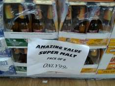 Supermalt Fruit Fusions 6 x 330ml Bottles, ALL 'Flavours' (Pineapple, Apple, Mango) for 99p at Sams 99p Stores at Sams 99p Stores