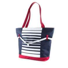 Womens Navy Nautical Large Beach Bag £4.99 (£4.49 with code)  Free Delivery or C&C @ Shoezone