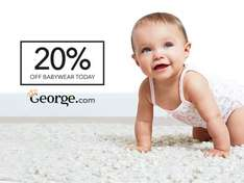 20% off babywear & Nursery @ George at Asda INCLUDES SALE! *Now Live*