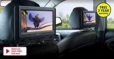 "In-Car DVD Player High resolution 9"" digital panel 2 screens from 27th at ALDI £79.99"