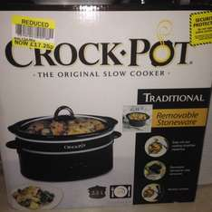 Crock pot SCV400KB-IUK £17.50 instore @ Tesco