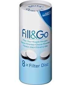 Brita Fill and Go Filter Discs, Pack of 8 Price: £7.71 Price includes delivery + 5% off at checkout with code  HAPPY5PERCENTOFF AT Mighty housewares