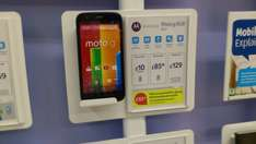 Tesco Mobile MOTO G 8GB and £10 top up £95 @ tesco Heswall in store phone shop