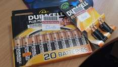 Boots Clearance - 20 x AA Duracell Batteries - £3!! 4 x AAA Duracell Batteries 50p