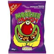 Pickled Onion Monster Munch  5 + 2 free £1.00 @ Home Bargains