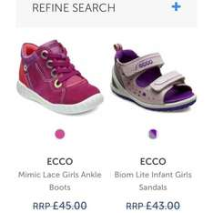 Half price kids Ecco ankle boots at Charles Clinkard