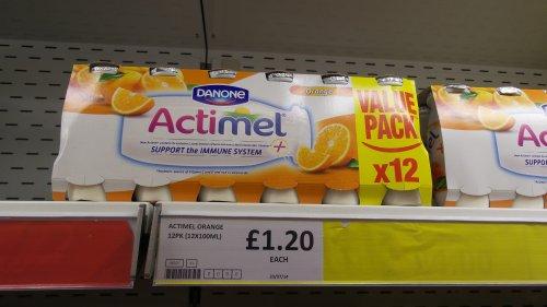 Danone Actimel Probiotic Yoghurt Drinks Orange 12 Pack Only £1.20 at Heron Foods